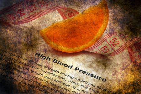presure: High blood pressure grunge concept