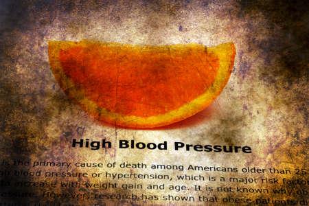 diastolic: High blood pressure grunge concept