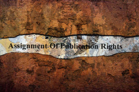 publication: Assignment of publication rights text on wall