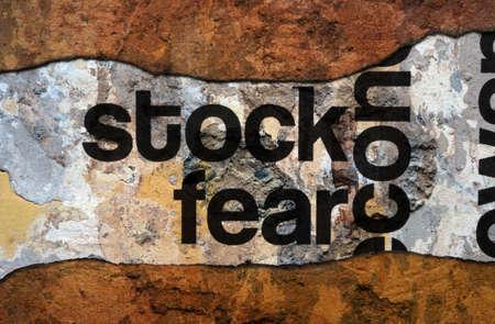 destitution: Stock fear grunge concept