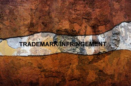 infringement: Trademark infringement text on wall
