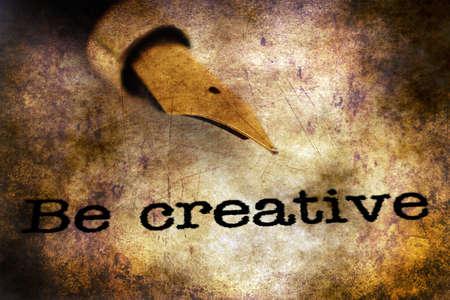 textcloud: Be creative grunge concept