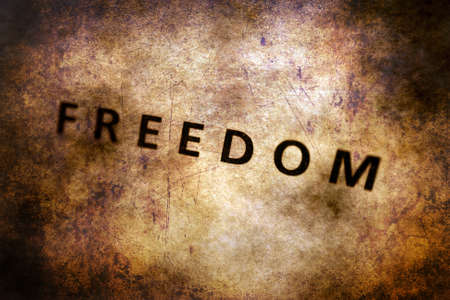 rightness: Freedom text on grunge background