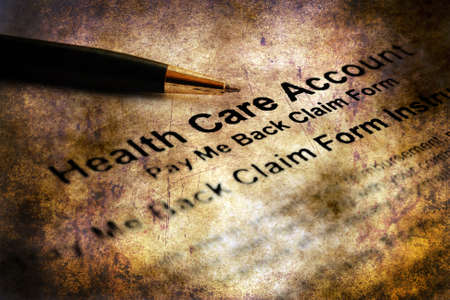 Health care account grunge concept