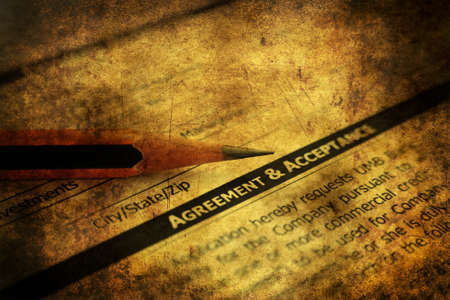 autograph: Agreement and acceptance grunge concept Stock Photo