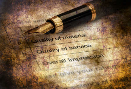 inquiry: Quality survey form grunge concept