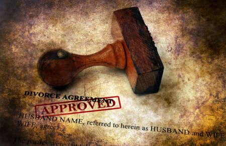 Divorce agreement - approved grunge concept