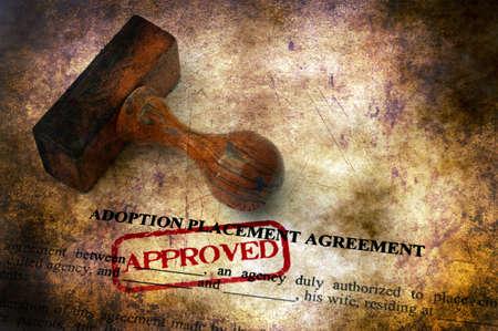 Adoption agreement grunge concept Stock Photo