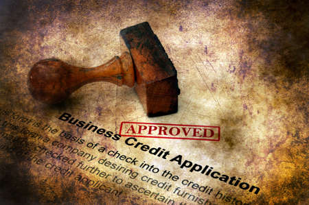Business credit application approved Stock Photo