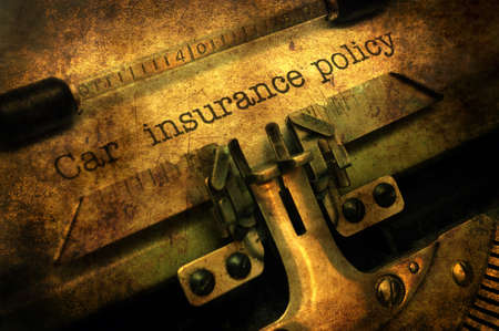Car insurance policy grunge concept