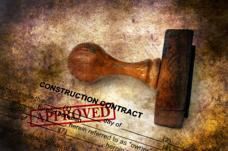 Construction contract - approved grunge concept