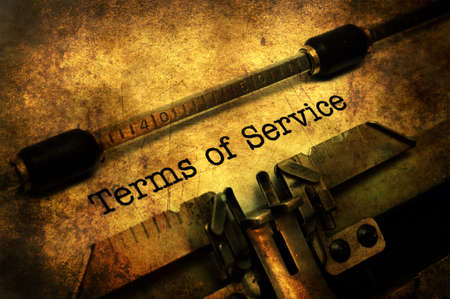 Terms of service grunge concept