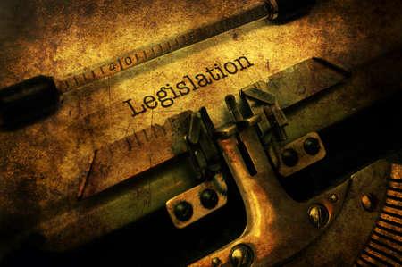 Legislation letter on typewriter