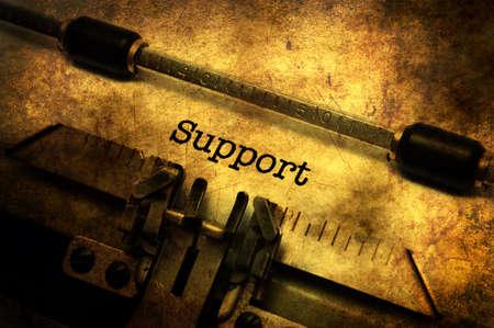 Support text on vintage  typewriter