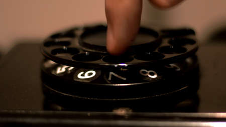 Close Up Of Old Rotary Phone Stock Photo