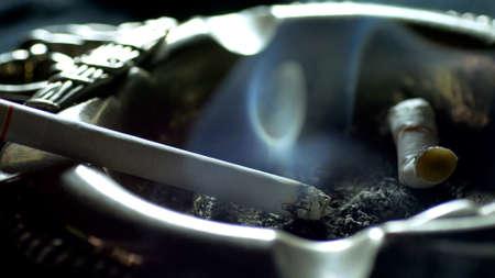 Cigarette Smoke Close Up-Shot