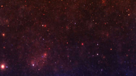 Stars in the night sky nebula and galaxy
