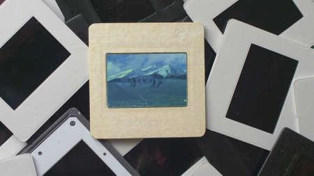Broken Memories On Vintage Slide Film