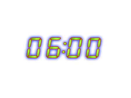 pm: digital alarm clock with green digits