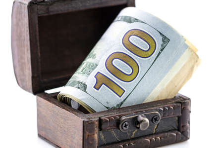 Treasure chest,the box of money,coins and dollars,found treasures,cash drawer,lots of money,the savings in foreign currency