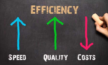 backgruond: Efficiency Business Concept. On the black backgruond Stock Photo
