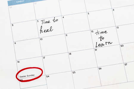 Save the date written on the calendar.