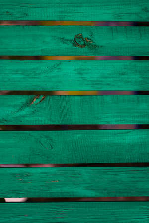 Vintage green wood panel fine arranged as wall for interior design and exterior decoration. Stock Photo