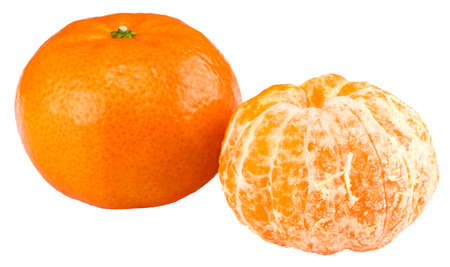 tangerine or mandarin fruit isolated on white background.