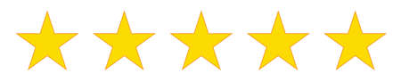 Rating Review icon - Flat design, glyph style icon - Yellow. Stock Photo