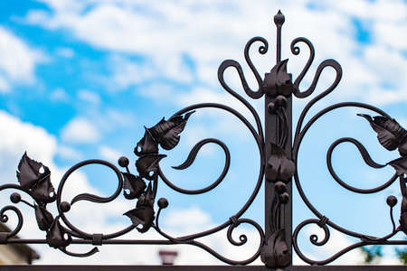 ornate wrought iron gate single ornate wroughtiron elements of metal gate decoration stock photo 105226749 ornate wroughtiron elements of metal gate decoration