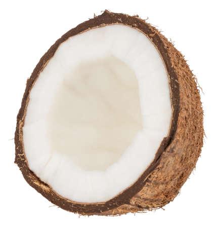 Noix de coco isolées sur le blanc