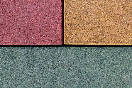 Asphalt texture background yellow, red and green sectors. 版權商用圖片 - 122683281