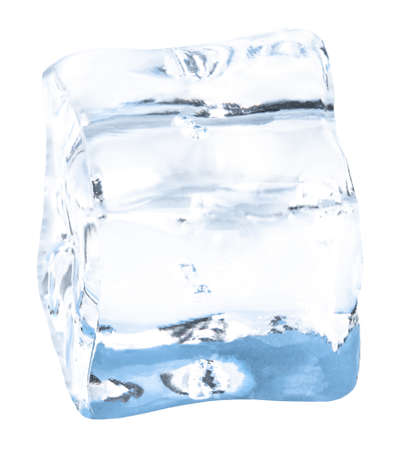 Ice cubes isolated on white Imagens