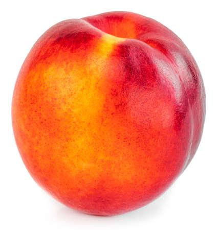 Nectarine fruit isolated on white background.