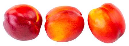 Nectarine fruit isolated on white Stock Photo