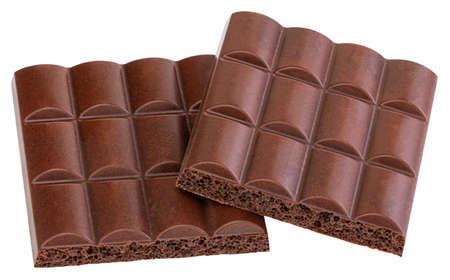 Chocolate bar isolated on white Stock Photo