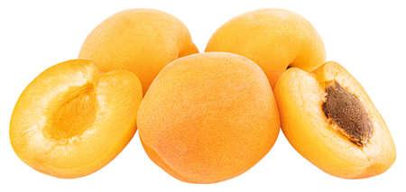 Apricot isolated on white background. Stock Photo