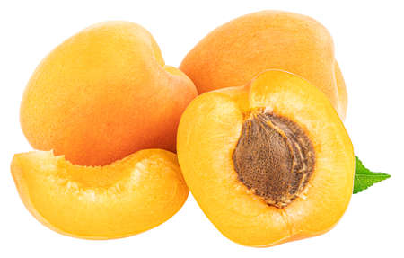 Apricot isolated on white background. Clipping Path.