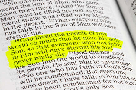 God is love. John 3.16 Biblical text.