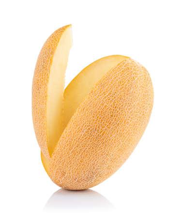Ripe melon isolated on white background.