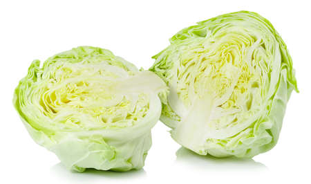 fresh cabbage isolated on white background with clipping path.