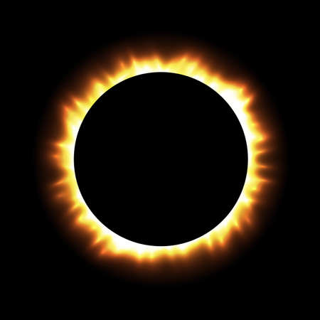 Total eclipse of the sun with corona.