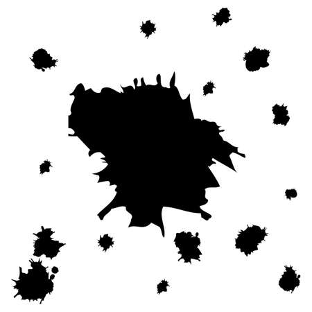ink stain: Paint splat set.Paint splashes set for design use.Abstract vector il.