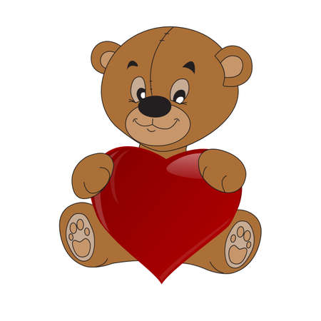 Teddy bear with tie vector illustration teddy bear