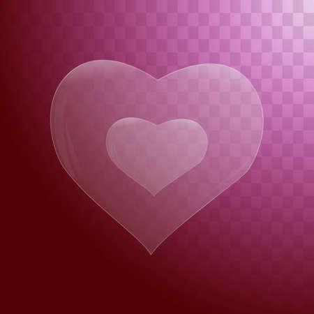 heard: Heart icon flat design.
