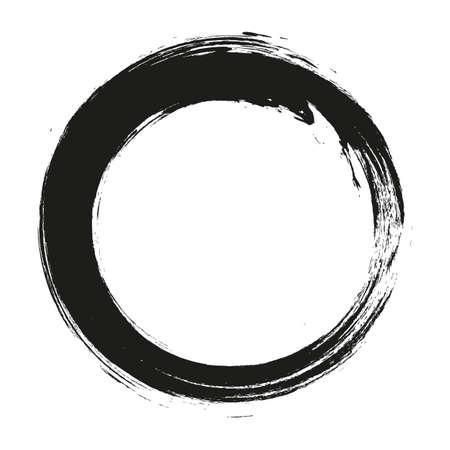 vettore pennellate cerchi di vernice su sfondo bianco.
