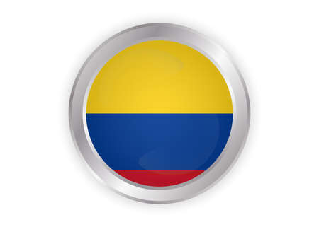 Vector Colombia flag, Colombia flag illustration, Colombia flag picture