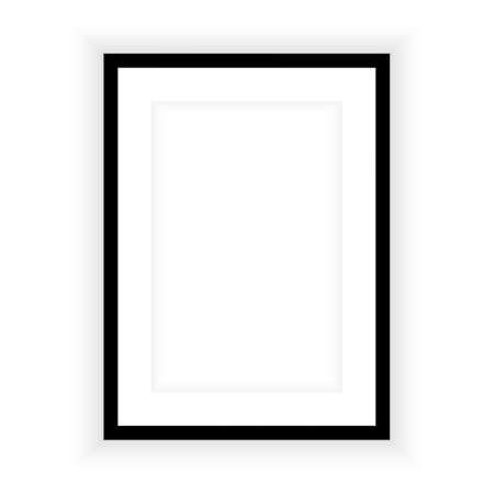 Marco de imagen realista aislado sobre fondo blanco. Perfecto para tus presentaciones. Ilustración vectorial