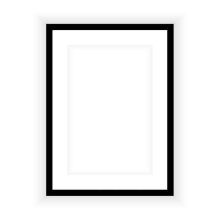Realistic picture frame isolated on white background. Perfect for your presentations. Vector illustration