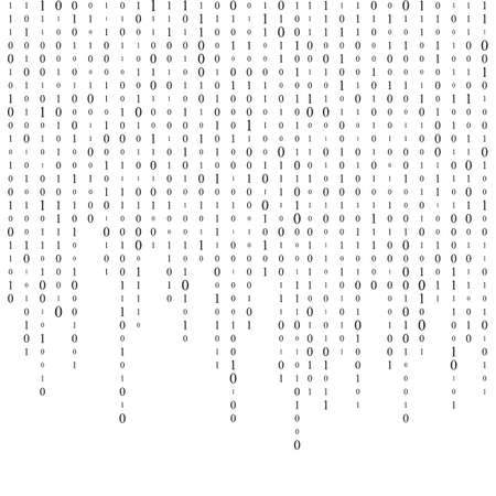 Background With Digits On Screen. binary code zero one matrix white background. banner, pattern, wallpaper. Abstract Matrix Background. Binary Computer Code. Coding. Hacker concept. Çizim